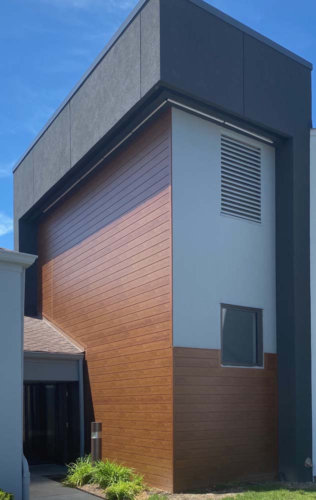 Modern stucco architecture