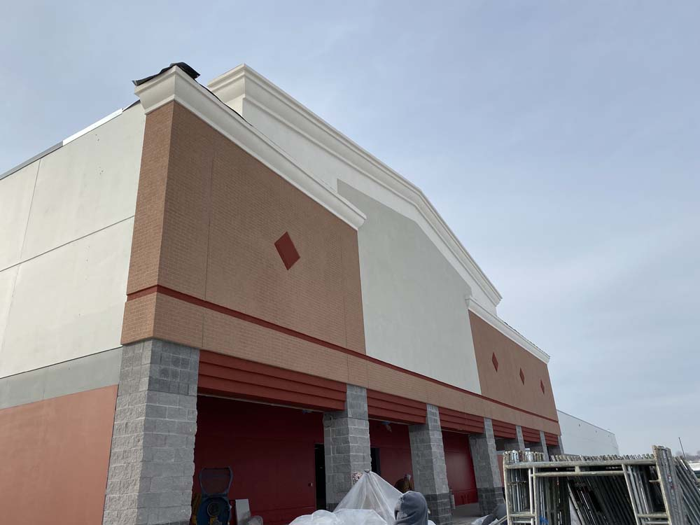 Michigan store with stucco