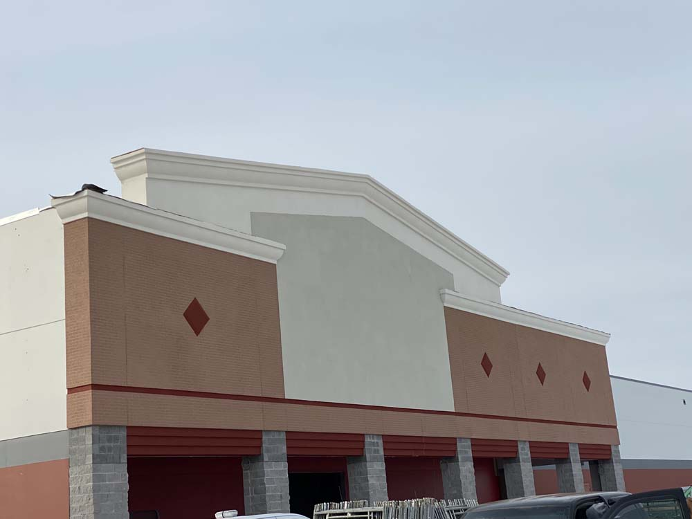storefront with stucco exterior in Michigan
