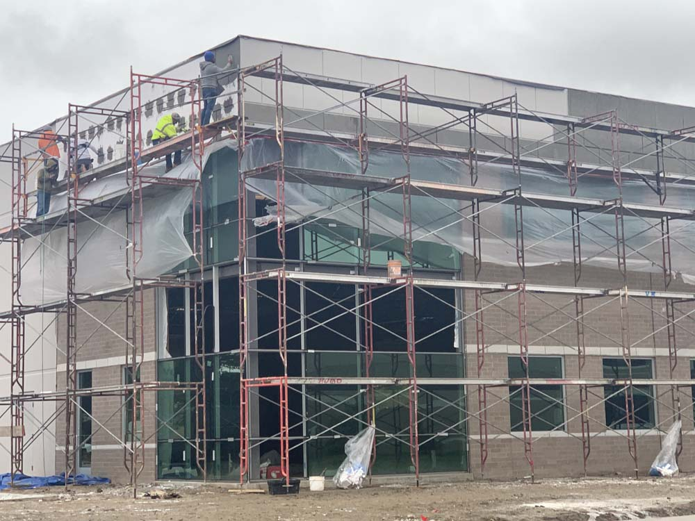 Weatherproofing a building with stucco