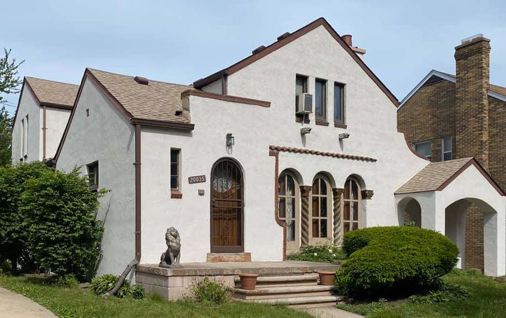 Michigan house with stucco exterior